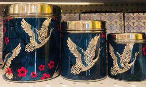 Lotus Market - Blue Crane Holiday Tin Cans