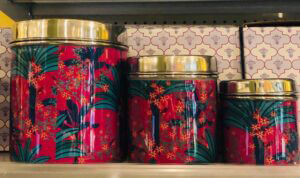 Lotus Market - Red Holiday Tin Cans