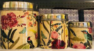 Lotus Market - Yellow Holiday Tin Cans
