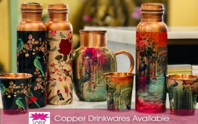 Copper Drinkware Available at Lotus Market